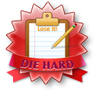 LoseIt! Die Hard badge for 52 weeks of continuous daily logging